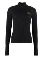 Versace Ribbed Sweater - black
