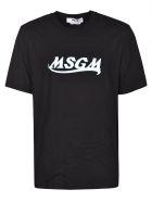 MSGM Logo Print T-shirt - Nera