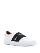 Givenchy Man White And Black Urban Street Sneakers With Band