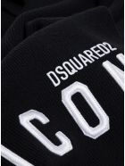 Dsquared2 Black Wool Hat With Logo - White/black