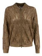 Brunello Cucinelli Knitted Zipped Cardigan - Brown