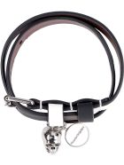Alexander McQueen Leather Bracelet With Medallion And Skull - Multicolor