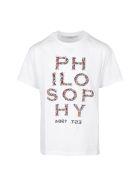 Philosophy di Lorenzo Serafini Kids T-shirt - Bianco