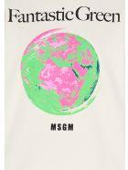 MSGM 'fantastic Green' Caspule Eco Sweatshirt - Beige