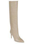 Paris Texas Embossed Croco Stiletto Boots - Mandarin