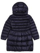 Il Gufo Long Quilted Blue Nylon Down Jacket - Blu