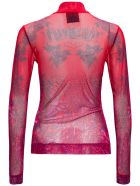 Givenchy Transparent Printed Long Sleeves T-shirt - Red