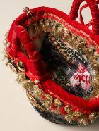 Sikuly Handbag Sacra Sikuly Coffa Bag In Fabric With Tassels - Multicolor