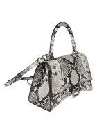 Balenciaga Snakeskin Effect Top Handle Flap Shoulder Bag - Nero