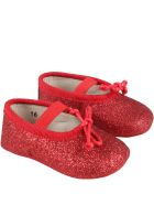 Gallucci Red Ballet Flats For Baby Girl - Red