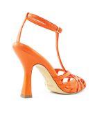 Aldo Castagna Lidia Orange Leather Sandal - Corallo