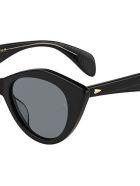 Rag & Bone RNB1028/S Sunglasses - /ir Black
