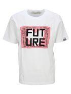 Golden Goose White Adamo T-shirt With Future Print - WHITE