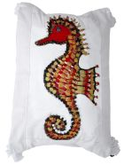 Le Botteghe su Gologone Acrylic Hand Painted Outdoor Cushion 50x50 cm - Red Fantasy