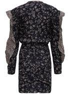 Isabel Marant Étoile Lexini Floral Dress With Ruffles - Black