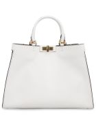 Fendi Peekaboo X-tote Leather Bag - Ghiaccio