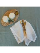 Once Milano Line Tablecloth With Large Border - Sage
