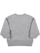 Dsquared2 Grey Sweatshirt For Baby Boy With Maple Leaf - Grey