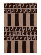 Fendi Ff Motif Jacquard Shawl - brown