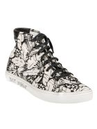 Saint Laurent Malibu Sneakers - Black/White