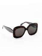 Alaia AA0007S Sunglasses - Havana Havana Grey