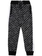 Givenchy Cotton Blend Jogger With Allover Logo - Black