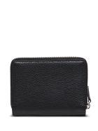 Balenciaga Essential Wallet In Black Hammered Leather - Black