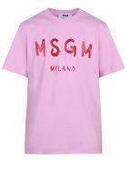 MSGM Branded T-shirt - Rosa