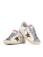 Golden Goose Sneakers Superstar - Bianca/glitter/maculato