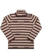 Gucci Brown Turtleneck For Baby Boy With Logo - Brown