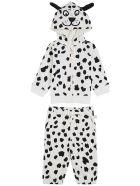 Stella McCartney Kids Dalmatian Printed Cotton Suit - White/black
