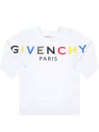 Givenchy White T-shirt For Baby Kids With Logo - White