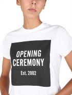 Opening Ceremony Crew Neck T-shirt - Offwhiteblack
