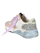 Golden Goose Running Sole Sneakers - White/Pink