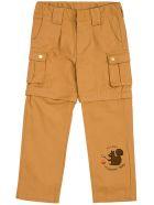 Mini Rodini Beige Cargo Cotton Pants With Print - Beige