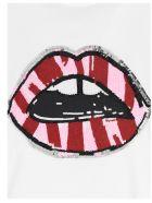 Markus Lupfer 'anna Sequin Two Tone Lip' T-shirt - White