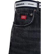 Balenciaga Denim Jeans With Logo Band - Black