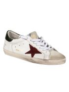 Golden Goose Superstar Classic With List Sneakers - White/Ice