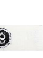 MM6 Maison Margiela Ivory Scarf For Kids With Logo - Ivory