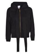 Patou Zipped Logo Hoodie - Black