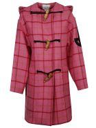 Patou Duffle Check Coat - Pink