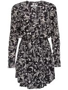 Isabel Marant Étoile Capucine  Viscose Dress With Floral Print - Black