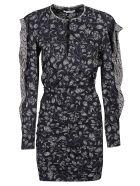 Isabel Marant Étoile Floral Short Dress - Etoile Black