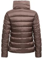 Save the Duck High Neck Ecological Brown Down Jacket - Brown