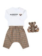 Burberry Multicolor Set For Baby Boy - Beige