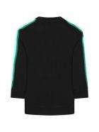 Fendi Black Sweatshirt For Kids With Colorful Logo - Dem Black Greene Rainbow