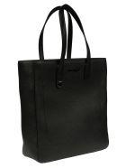 Salvatore Ferragamo Logo Stamped Shopper Bag - Black