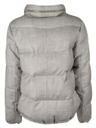 Brunello Cucinelli Bead Embellished Padded Jacket - Grey