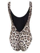 Dolce & Gabbana Slim Fit Animal Print Swimsuit - Leopard