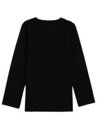 Givenchy Long-sleeved Cotton Sweater With Stampa Logo - Black